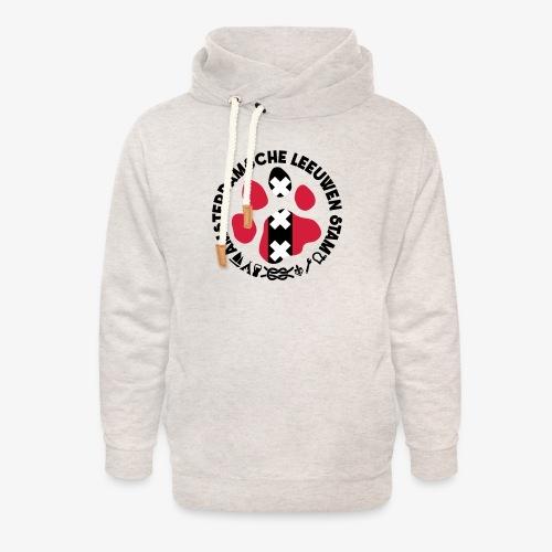 ALS witte cirkel lichtshi - Unisex sjaalkraag hoodie