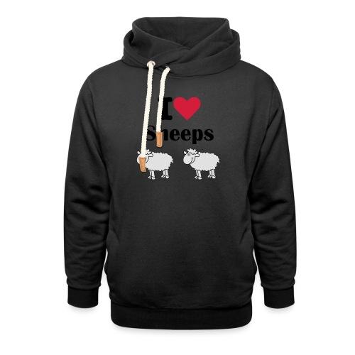 I-love-sheeps - Sweat à capuche cache-cou