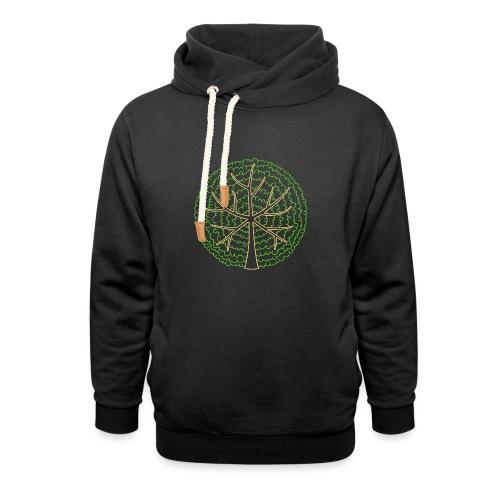 Baum, rund, hellgrün - Schalkragen Hoodie