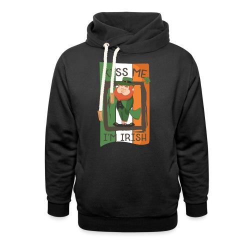 St. Patrick's Day Leprechaun - I'm Irish - Kiss Me - Shawl Collar Hoodie