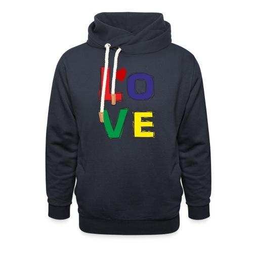 LOVE - Schalkragen Hoodie