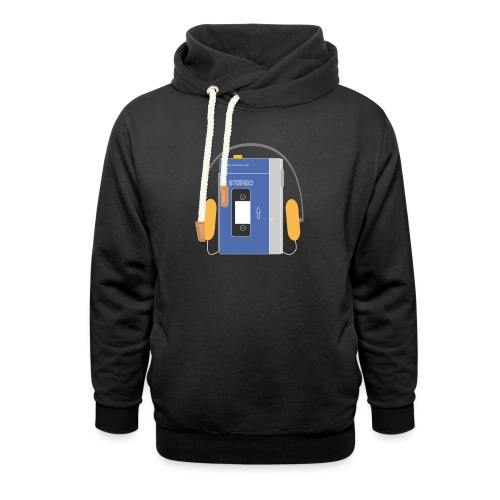 Stereo walkman in blue - Shawl Collar Hoodie