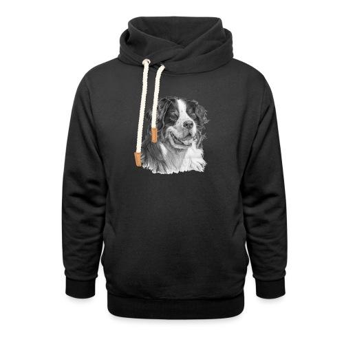Bernese mountain dog - Hoodie med sjalskrave