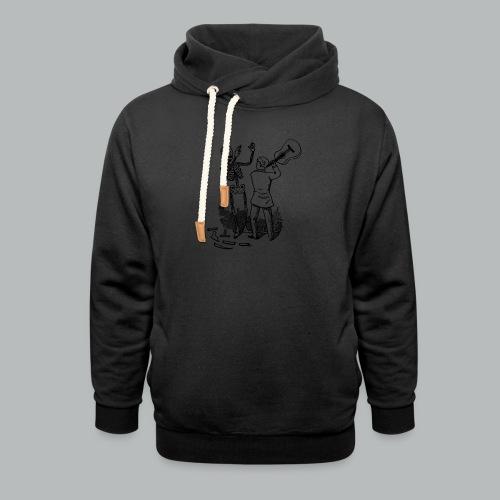 DFBM unbranded black - Shawl Collar Hoodie