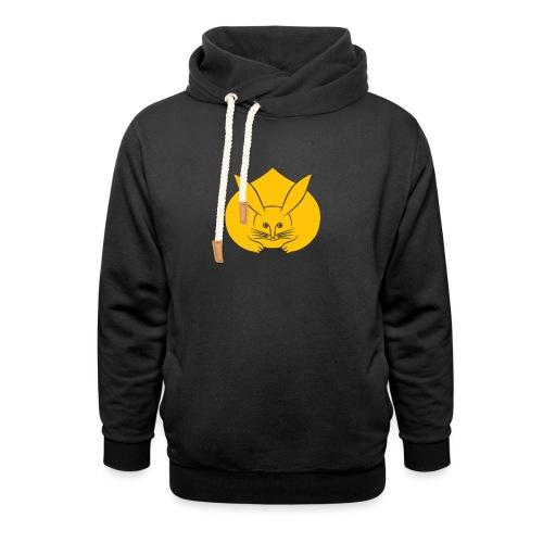 Usagi kamon japanese rabbit yellow - Unisex Shawl Collar Hoodie