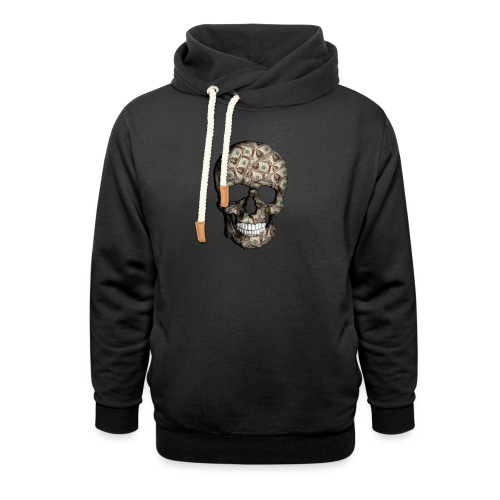 Skull Money Black - Sudadera con capucha y cuello alto unisex