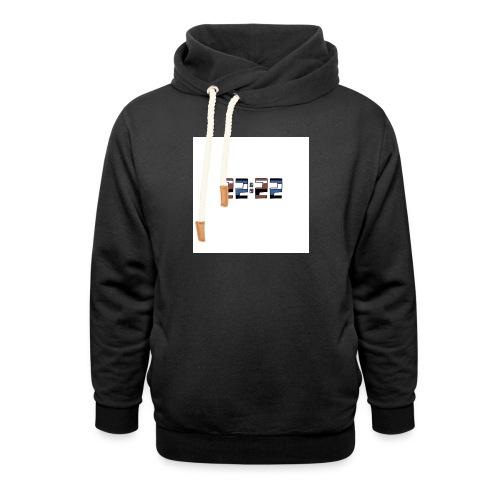 22:22 buttons - Unisex sjaalkraag hoodie