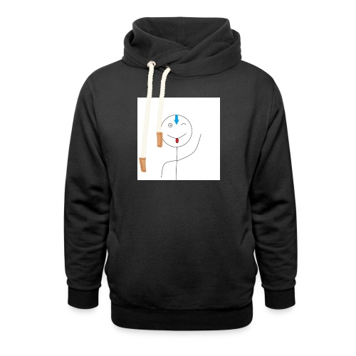 avatar stick man cover 6/6s - Unisex hoodie med sjalskrave