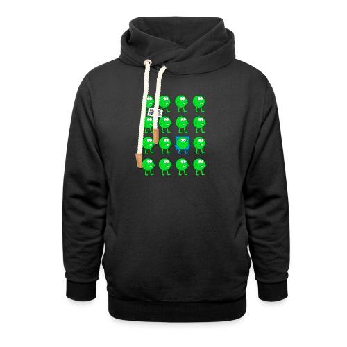 We are all green dots! - Schalkragen Hoodie