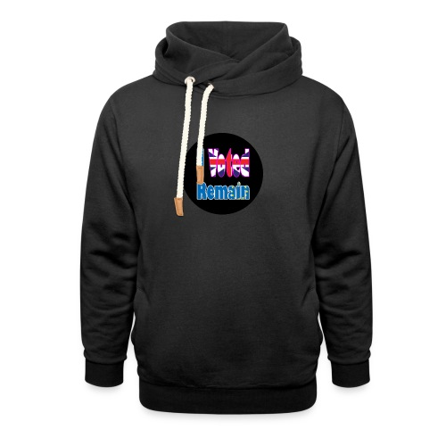 I Voted Remain badge EU Brexit referendum - Shawl Collar Hoodie