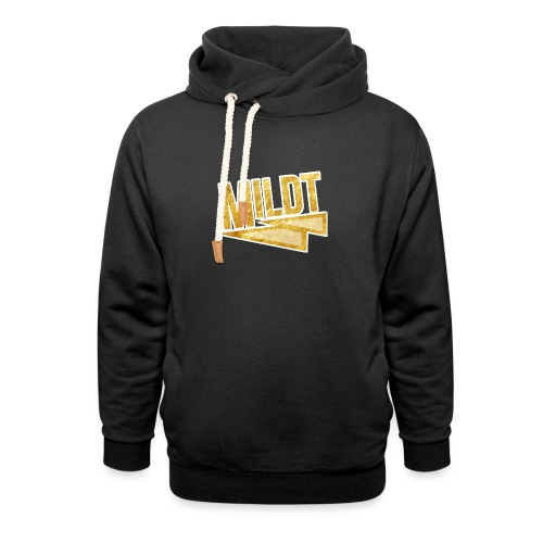 MILDT Gouden Vrouwen Shirt - Sjaalkraag hoodie
