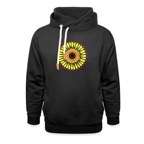 Yellow Sunflower Mandala - Unisex Shawl Collar Hoodie