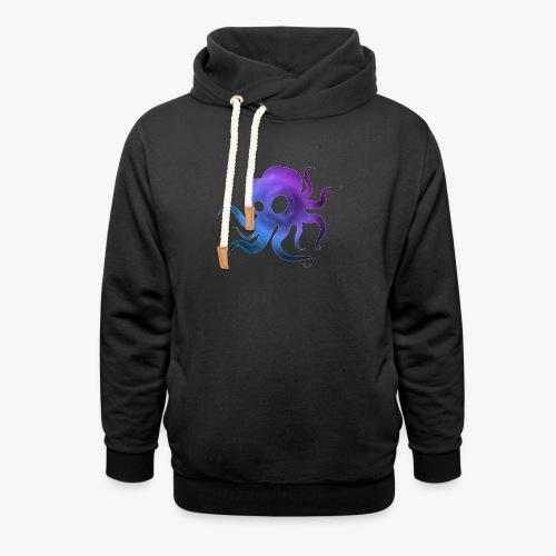 Space Squid - Unisex hoodie med sjalskrave