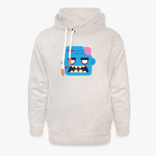 Mini Monsters - Zombob - Unisex hoodie med sjalskrave
