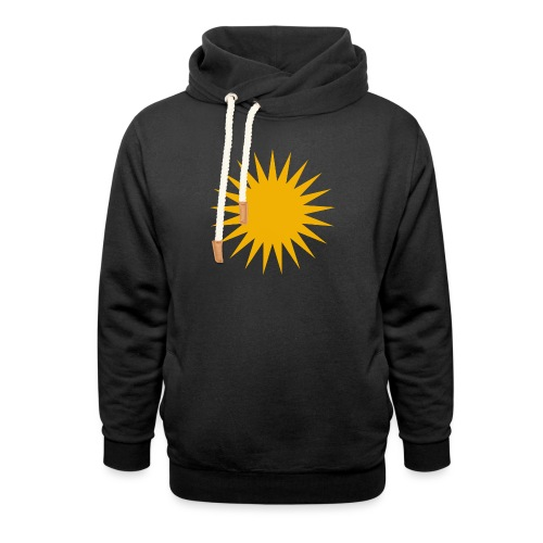 Kurdische Sonne Symbol - Schalkragen Hoodie