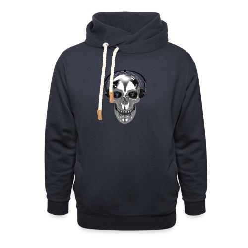 Skull chrome electrique - Sweat à capuche cache-cou unisexe
