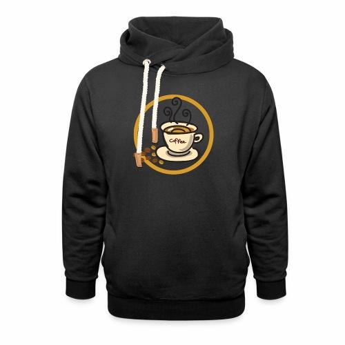 Kaffeeemblem - Unisex Schalkragen Hoodie
