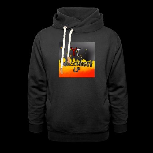 Waschbeer Design 2# Mit Flammen - Schalkragen Hoodie