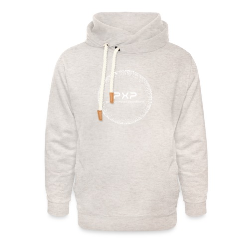white logo transparent 2x - Unisex Shawl Collar Hoodie