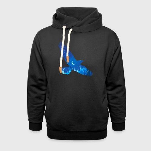 Oiseau Bleu d'hiver - Sweat à capuche cache-cou