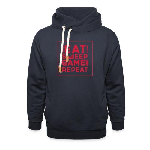 Eat, Sleep, Game, Repeat. - Shawl Collar Hoodie
