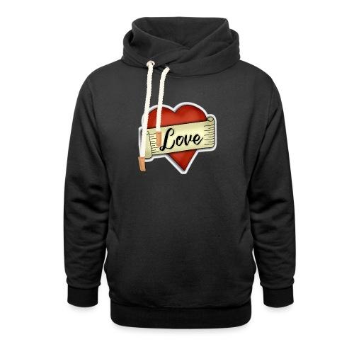 Love cœur tatouage - Sweat à capuche cache-cou