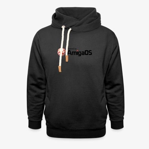 PoweredByAmigaOS Black - Shawl Collar Hoodie