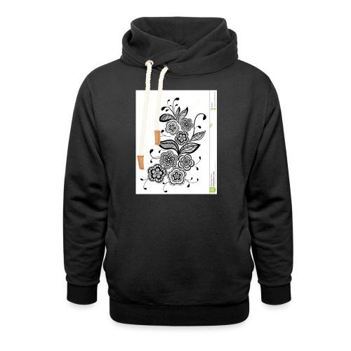 diseño de flores - Sudadera con capucha y cuello alto unisex