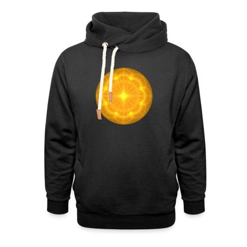 Golden Radiance Mandala Heart - Sjaalkraag hoodie