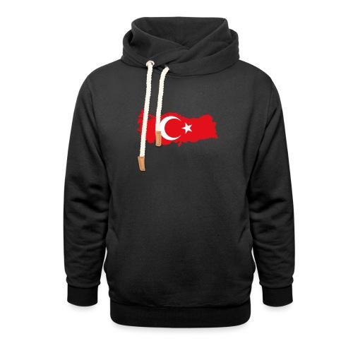 Tyrkern - Unisex hoodie med sjalskrave