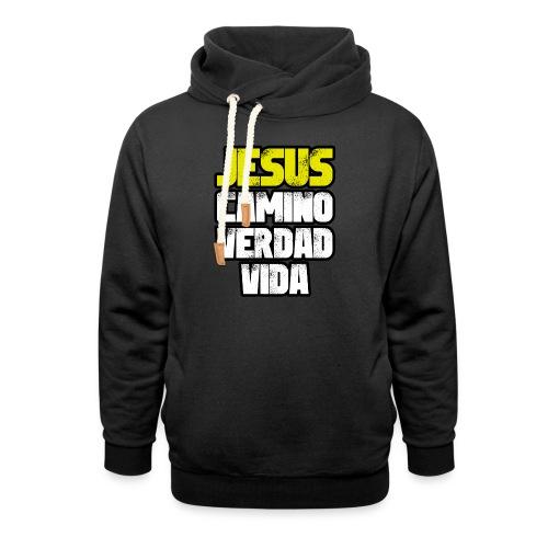 Jesus Camino Verdad Vida - Juan 14:6 - Sudadera con capucha y cuello alto