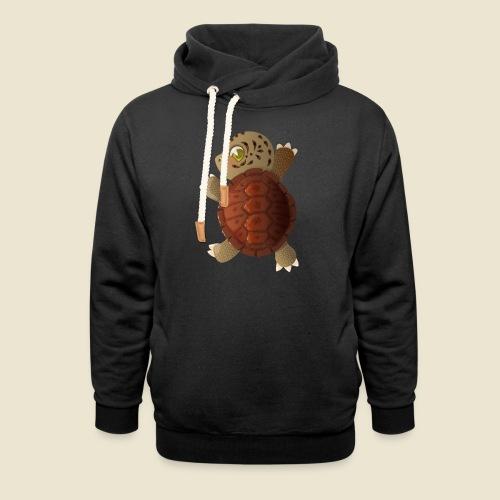 Bébé tortue - Sweat à capuche cache-cou