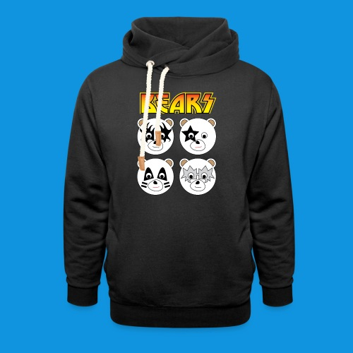 Kiss Bears square.png - Shawl Collar Hoodie