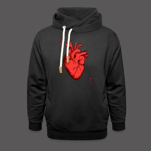 Herz Ass - Schalkragen Hoodie