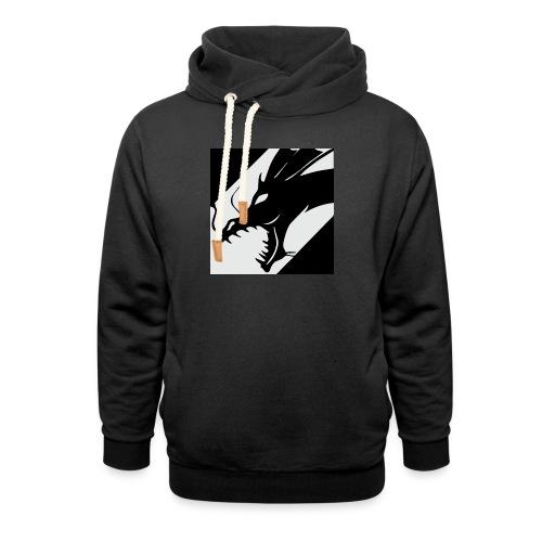 Dragon White - Sjaalkraag hoodie