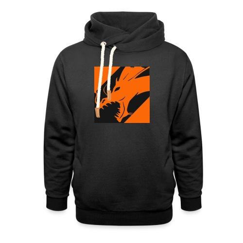Dragon Orange - Sjaalkraag hoodie