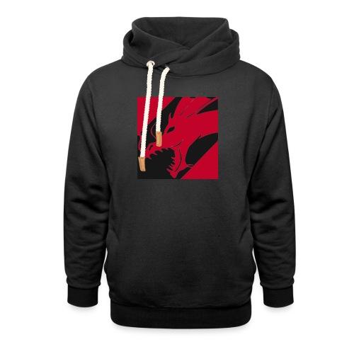 Dragon Red - Sjaalkraag hoodie