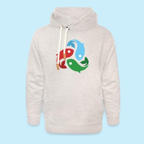De fiskede fisk - Unisex hoodie med sjalskrave