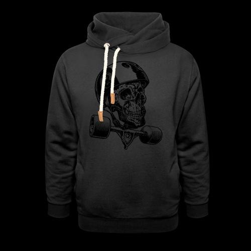 Skull Longboard Rider - positive print - Sweat à capuche cache-cou