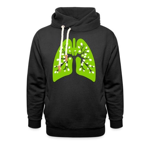 Poumon vert - Sweat à capuche cache-cou