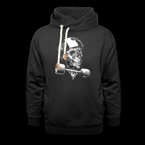 Skull Longboard Rider - negative print - Sweat à capuche cache-cou