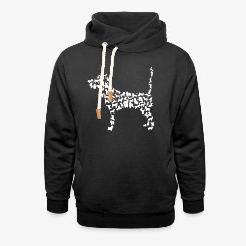 Hunde Kollage - Schalkragen Hoodie