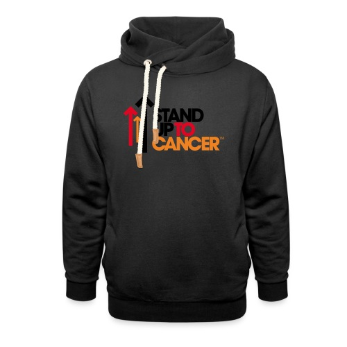 stand up to cancer logo - Shawl Collar Hoodie