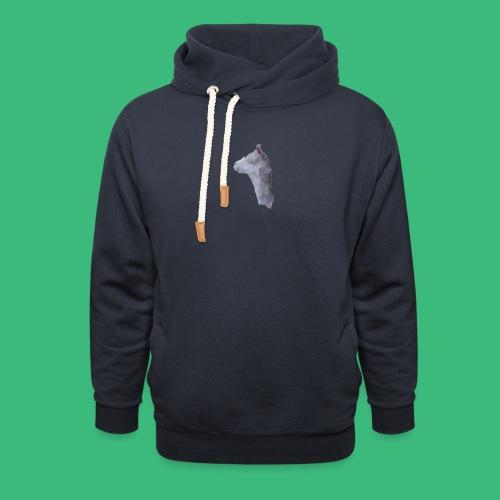 Lama KristalArt / alle kleuren - Unisex sjaalkraag hoodie
