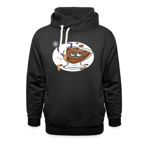 chocolate - Hoodie med sjalskrave