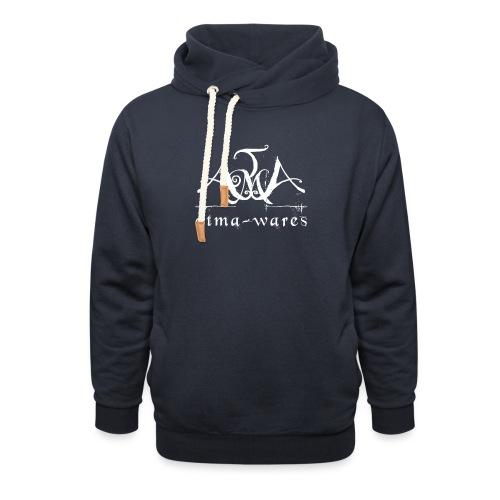 atma wares logo white - Sjaalkraag hoodie