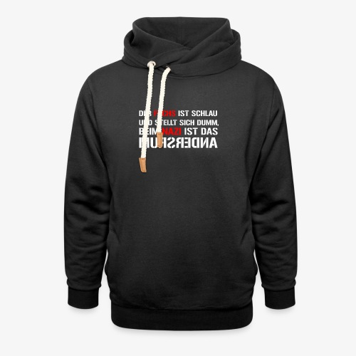 Fuchs und Nazi - Antifa - Schalkragen Hoodie