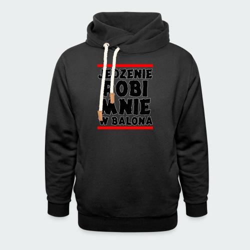 Damska Koszulka Premium JRBWB - Bluza z szalowym kołnierzem