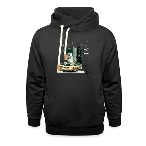 NYC - Lady liberty and the yellow cabs - Schalkragen Hoodie