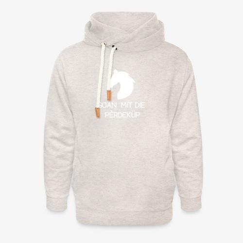 Goan mit die pèrdeküp - Unisex sjaalkraag hoodie